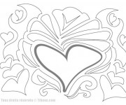 Coloriage Abstrait Coeur