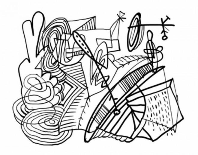 Coloriage et dessins gratuits Abstrait couleur en ligne à imprimer