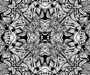 Coloriage et dessins gratuit Abstrait en noir à imprimer