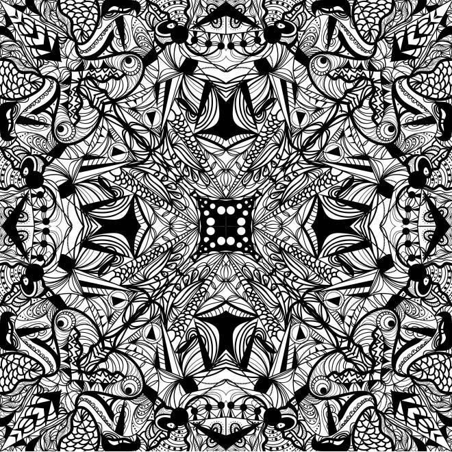 Coloriage et dessins gratuits Abstrait en noir à imprimer