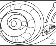 Coloriage Abstrait Escargot