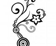 Coloriage et dessins gratuit Abstrait Fleur à imprimer