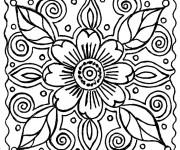 Coloriage Abstrait Fleur à décorer