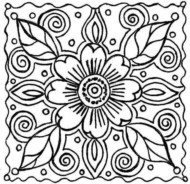 Coloriage et dessins gratuits Abstrait Fleur à décorer à imprimer