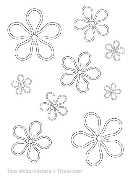 Coloriage et dessins gratuits Abstrait Fleurs dans L'espace à imprimer