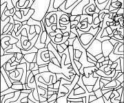 Coloriage et dessins gratuit Abstrait Homme à imprimer