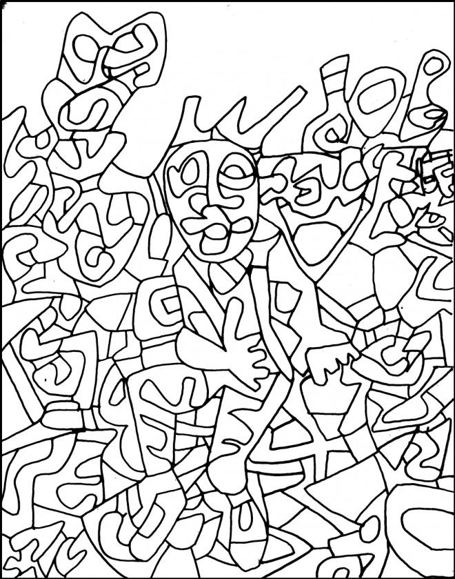 Coloriage et dessins gratuits Abstrait Homme à imprimer