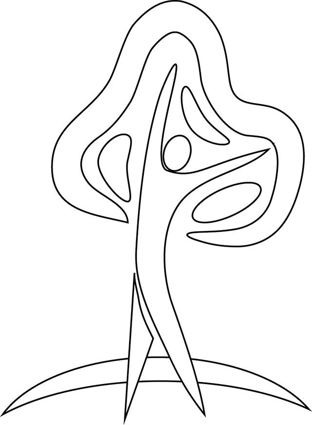 Coloriage et dessins gratuits Abstrait Homme facile à imprimer