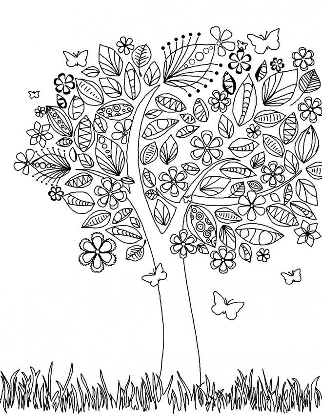 Coloriage et dessins gratuits Abstrait Jardin Potager à imprimer