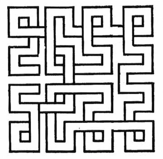 Coloriage et dessins gratuits Abstrait Labyrinthe à imprimer