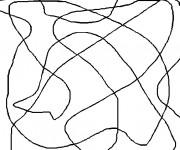 Coloriage Abstrait Lignes