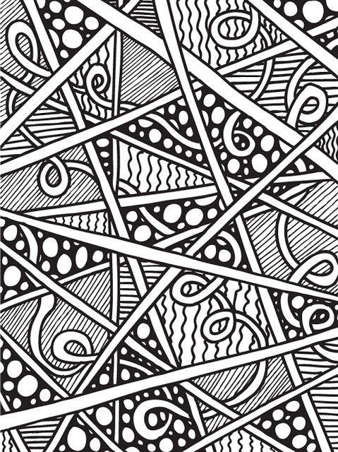 Coloriage et dessins gratuits Abstrait magique à imprimer