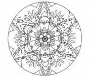 Coloriage Abstrait mandala