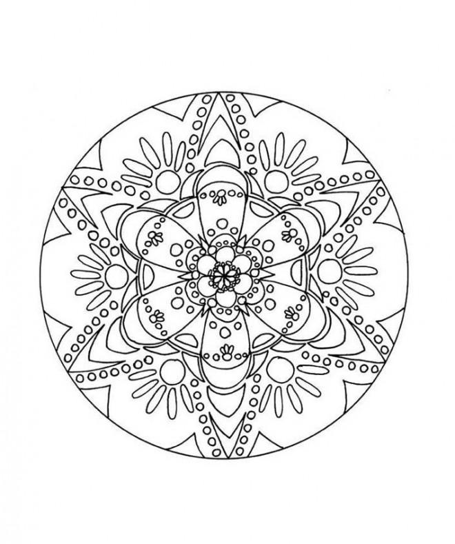 Coloriage et dessins gratuits Abstrait mandala à imprimer