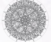 Coloriage et dessins gratuit Abstrait mandala adulte à imprimer