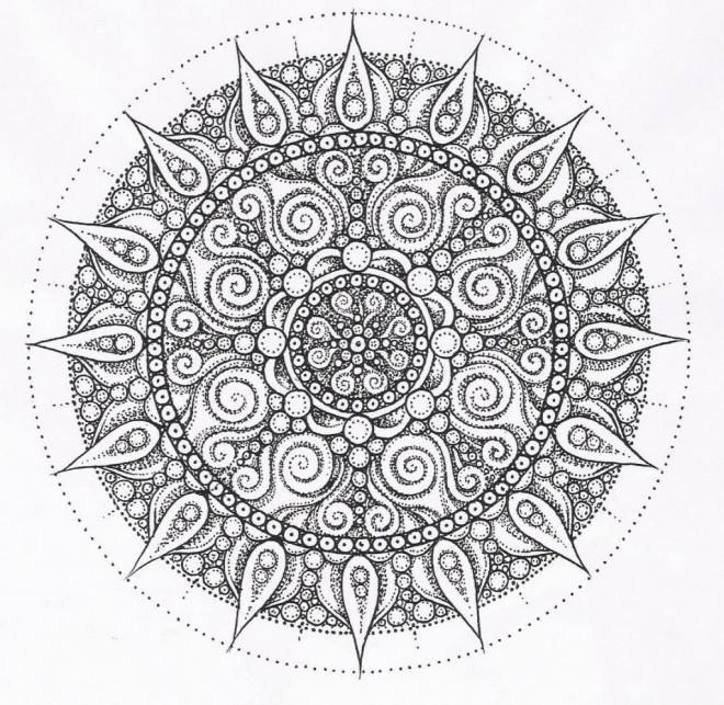 Coloriage et dessins gratuits Abstrait mandala adulte à imprimer