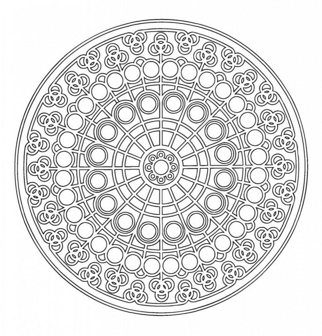 Coloriage et dessins gratuits Abstrait mandala artistique à imprimer