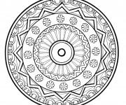 Coloriage Abstrait mandala originale