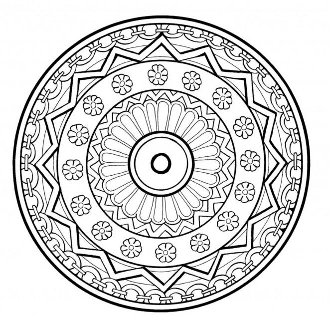 Coloriage et dessins gratuits Abstrait mandala originale à imprimer