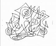 Coloriage Abstrait Musique