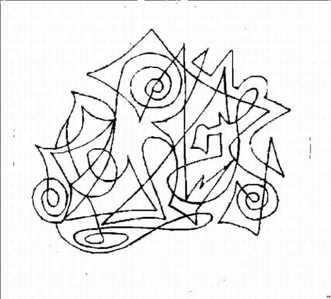 Coloriage et dessins gratuits Abstrait Musique à imprimer