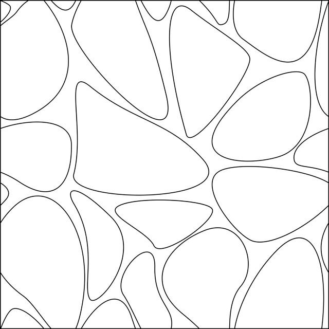 Coloriage et dessins gratuits Abstrait noir et blanc facile à imprimer