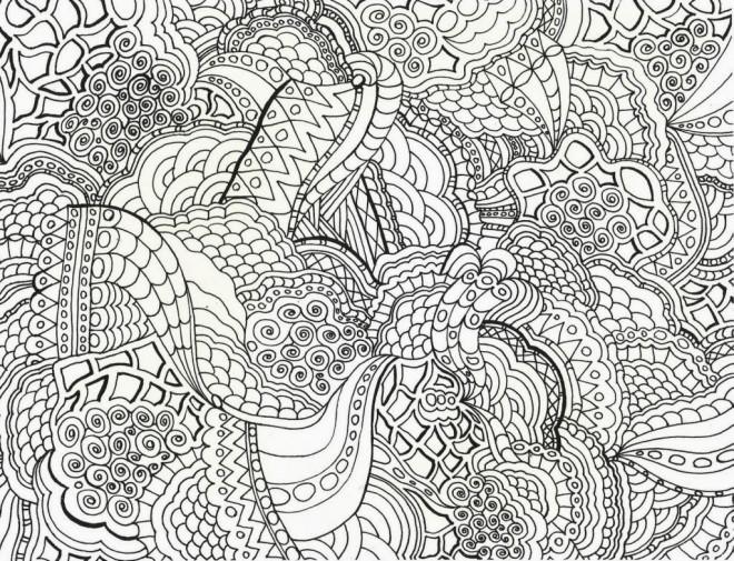Coloriage et dessins gratuits Abstrait Paon à imprimer