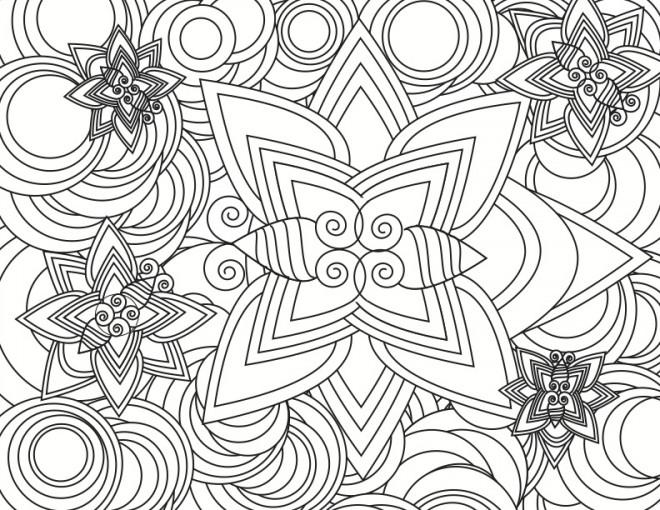 Coloriage et dessins gratuits Abstrait Papillons à imprimer