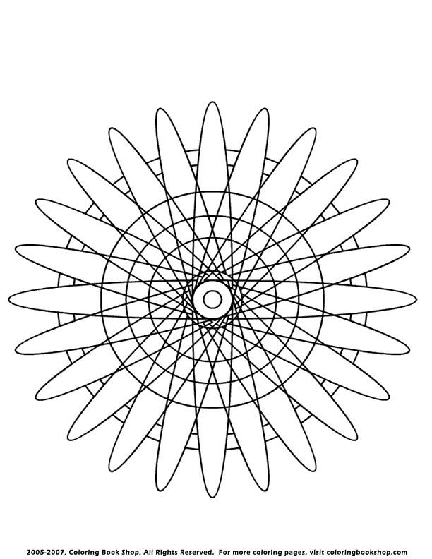 Coloriage et dessins gratuits Abstrait Pétales de la rose à imprimer