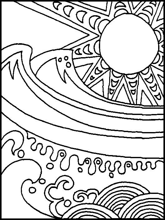 Coloriage et dessins gratuits Abstrait Plage à imprimer