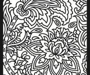 Coloriage Abstrait Plantes et Fleurs