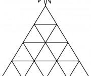 Coloriage Abstrait Pyramide