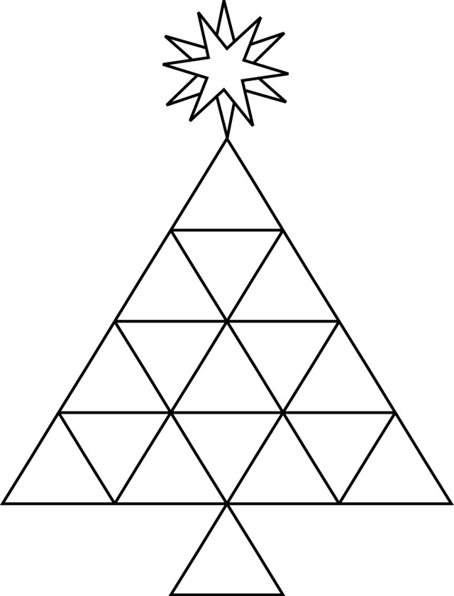 Coloriage et dessins gratuits Abstrait Pyramide à imprimer