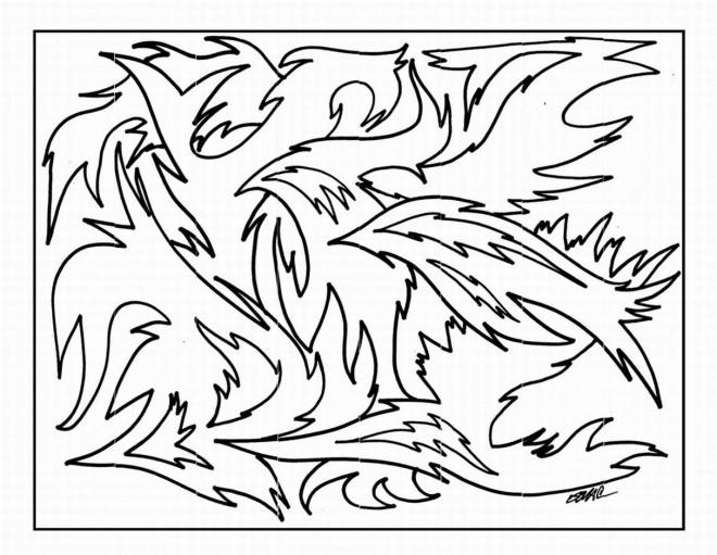 Coloriage et dessins gratuits Abstrait relaxant à imprimer