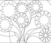 Coloriage et dessins gratuit Abstrait stylisé à imprimer