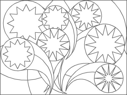 Coloriage et dessins gratuits Abstrait stylisé à imprimer