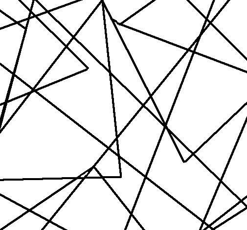 Coloriage et dessins gratuits Abstrait Triangles à imprimer