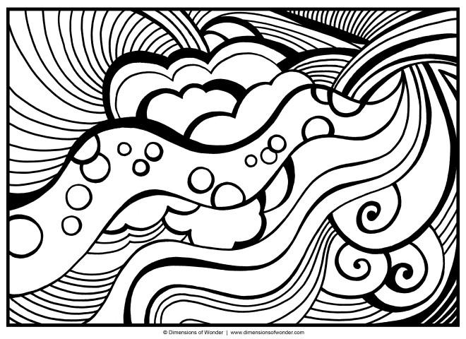 Coloriage et dessins gratuits Abstrait Vagues à imprimer
