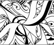 Coloriage et dessins gratuit Abstrait vecteur à imprimer