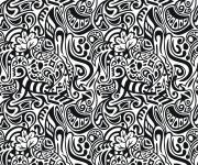 Coloriage Abstrait vectoriel à découper