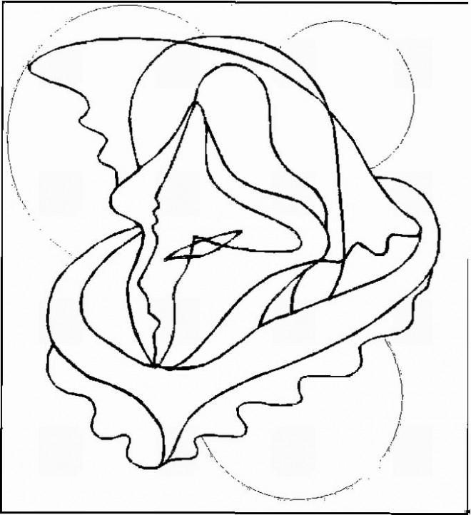 Coloriage et dessins gratuits Art Abstrait facile à imprimer