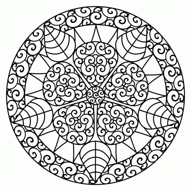 Coloriage et dessins gratuits Mandala Abstrait Pétales à imprimer