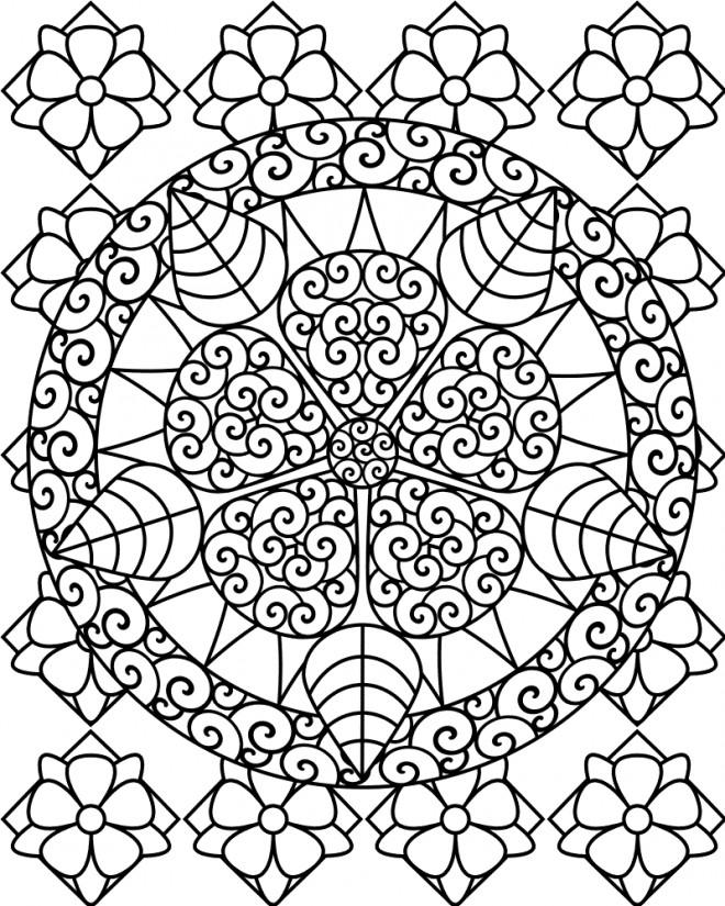 Coloriage et dessins gratuits Mandala Adulte à imprimer