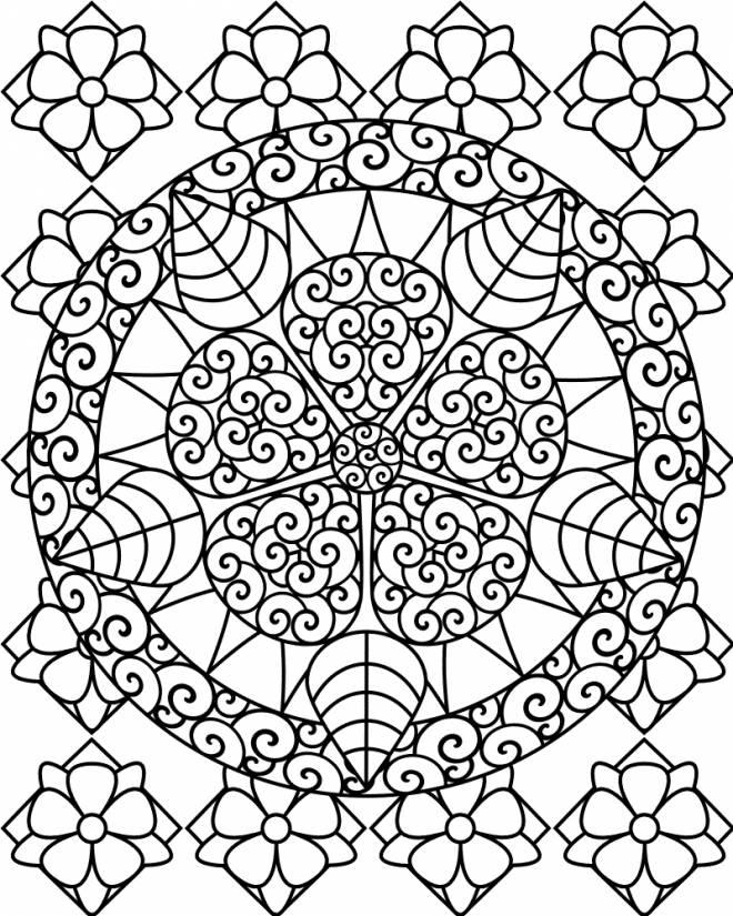 Coloriage et dessins gratuits Mandala adulte impressionnant à imprimer