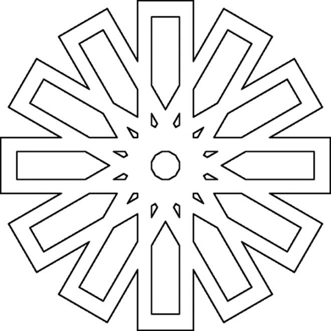 Coloriage et dessins gratuits Mandala facile à imprimer
