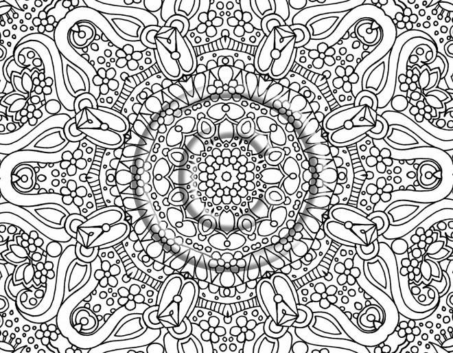 Coloriage et dessins gratuits Mandala sur ordinateur à imprimer
