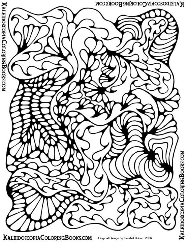 Coloriage et dessins gratuits Peinture Abstrait à imprimer