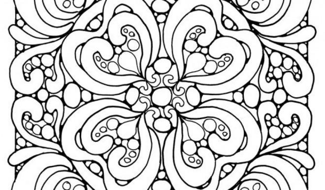 Coloriage et dessins gratuits Peinture Abstrait à colorier à imprimer