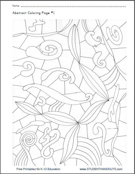 Coloriage et dessins gratuits Peinture Abstrait adulte à imprimer
