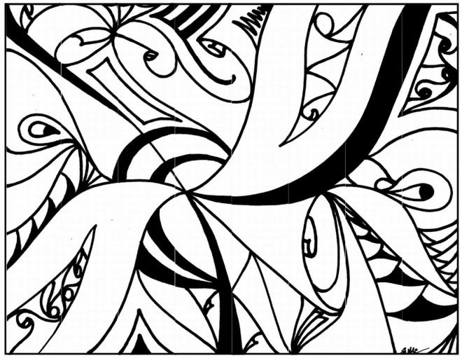 Coloriage et dessins gratuits Tableau Abstrait à imprimer